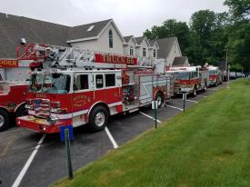 Bethel Units Lined Up at Elam Church